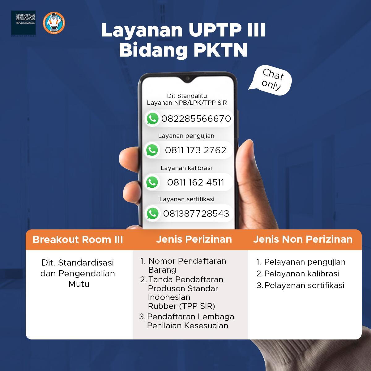Layanan UPTP III Bidang PKTN